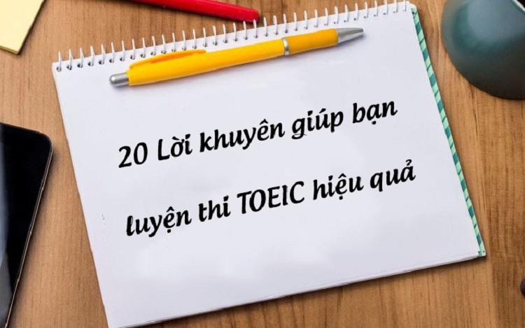 20 lời khuyên TOEIC